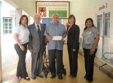 Evelyn Chacín Barboza, Dr. Fernando Chumaceiro, hermano César Osorio Paz, Antonieta de Acosta y Erika Mercado