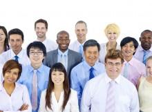 Multinational business team portrait