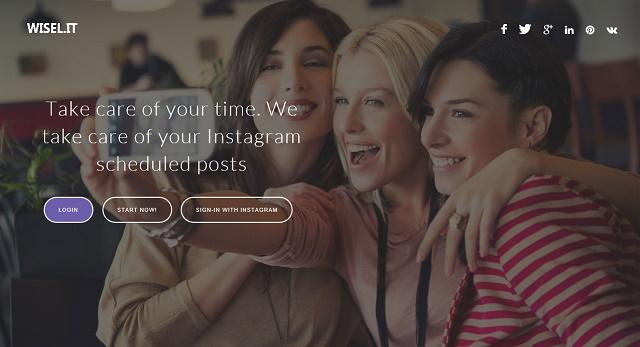 Wisel.it es una plataforma web para la programación de contenidos en Instagram, desarrollado con la última tecnología se constituye como un sitio web rápido que le permite al usuario tener una mejor visión de todo lo que sucede en esta creciente red social. Al permitir la programación de fotos, Wisel.it permite editar la misma antes de su lanzamiento, garantizando la calidad de las publicaciones y sin limitaciones accediendo desde su computador. La herramienta también permite hacer repost a publicaciones que merecen mantener la originalidad del creador; esta acción es parecida a un retweet en twitter. La versión web de Instagram