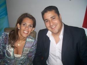 Carolina Rivera Gerente de Negocios Microsoft y Jorge Romero Gerente de Marca APC y Lexmark