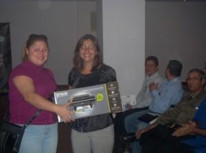 Entrega a la Ganadora de Premio EPSON