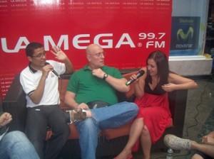 Luis Cabrita, Julio Eduardo Torrents y Gaby Luna