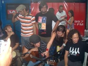 Mango Funk junto a Gaby Luna en La Mega Toma