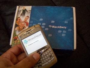 Editando a Estamos en Linea Plataforma WordPress desde el Blackberry