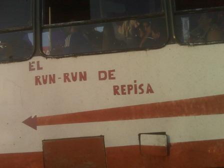 Curiosa esta foto tomada el fin de semana anterior aqui en un autobus de Maracaibo
