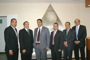 Representantes del Banco de Venezuela y directivos del Grupo Inteligensa