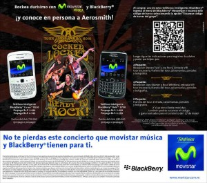 Conoce Aerosmith con Movistar y BlackBerry