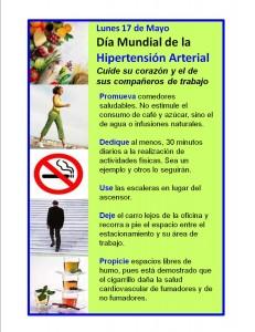 Día Mundial de la Hipertensión Arterial - Lunes 17 de Mayo 2010