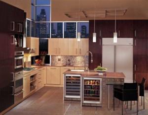 Artefactos de GE integrados en la cocina de un padre innovador