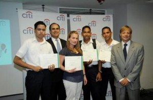 Ganadores de la competencia, Presidente de Citi, Presidente de Jovenes Emprendedores