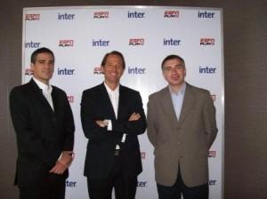 Rolando Agoglia ESPN, Eduardo Stigol INTER, Marcelo Rizzato ESPN