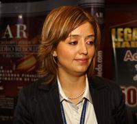 Mónica Jiménez, experta financiera para el programa de asistencia legal para América Latina y el Caribe de la Oficina de ONU contra la Droga y el Delito