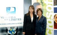 Mireya Blavia de Cisneros, presidenta de la Fundación Venezuela Sin Límites y Anayda Frisneda, Gerente General de Microsoft Venezuela