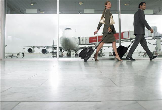 Caminando en el Aeropuerto