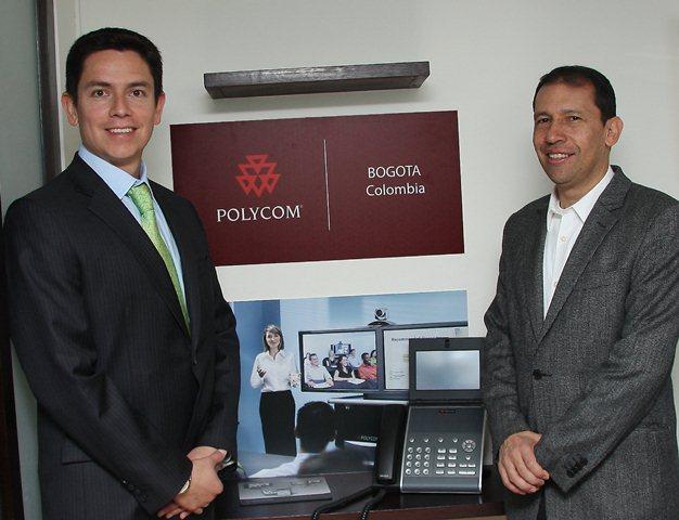En la foto de izquierda a derecha. Juan Carlos Uribe, gerente de producto Polycom para Nexsys de Colombia y Darío Pava, country manager de Polycom.