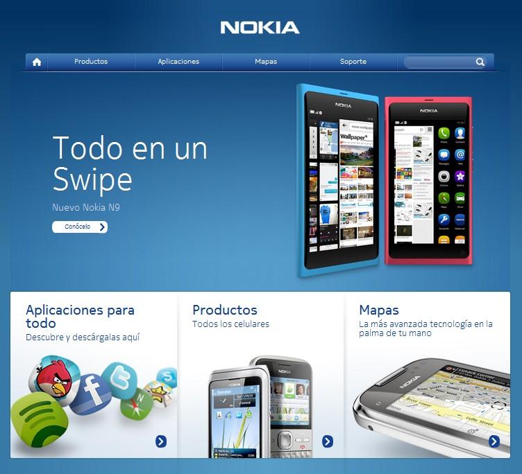 Rediseño página web Nokia Venezuela
