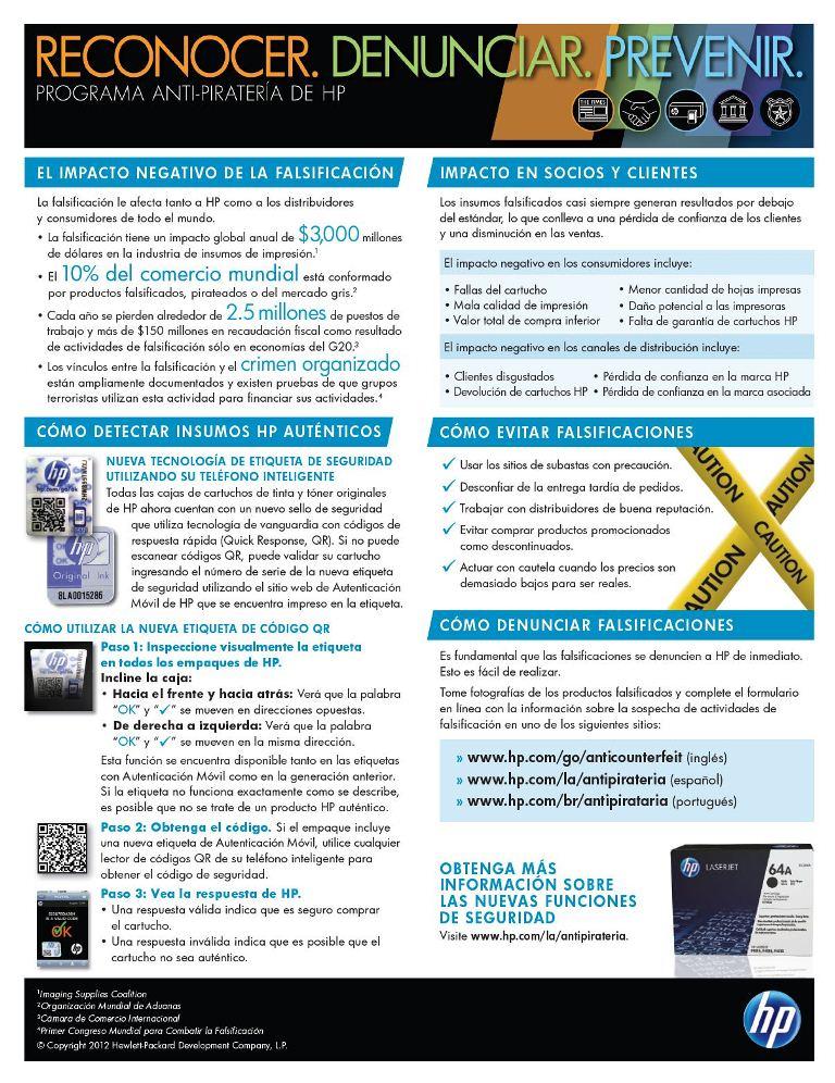 Programa Antipirateria de HP