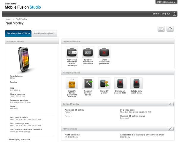 BlackBerry Mobile Fusion Studio