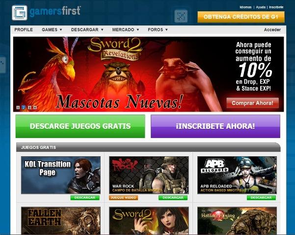 GamersFirst portal juegos online