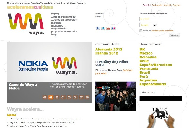 Nokia firma acuerdo con Wayra
