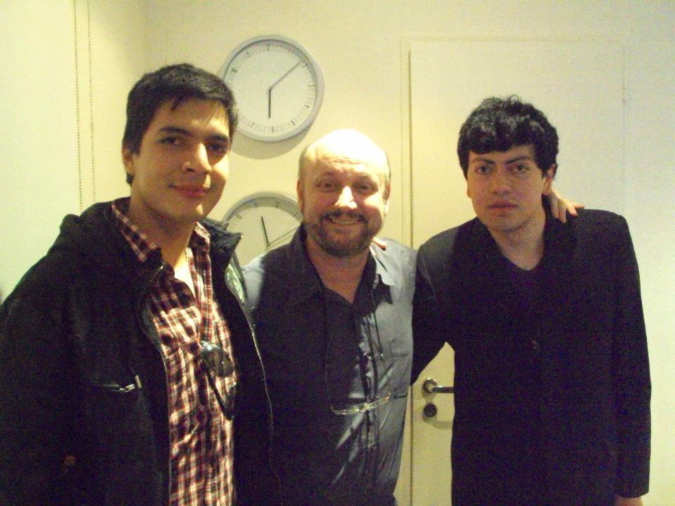 Rodrigo Morales y David Moscoso