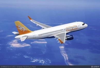 Drukair, de Bután, confirma la compra del Airbus A319 con Sharklets