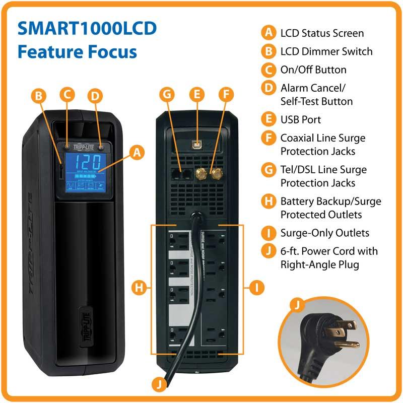 Tripp Lite -SMART1000LCD