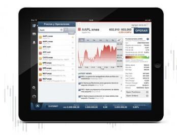 iPad - Saxo Bank app