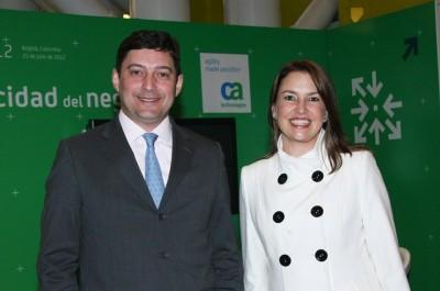 En la foto, Laercio Albuquerque, presidente y director general de CA Technologies para Latinoamérica, y Claudia Vásquez, vicepresidente de la región Norte de Latinoamérica.