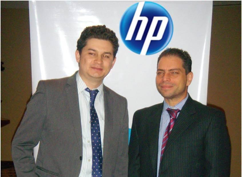 Andrés Cajamarca - Gerente de Producto HP Netoworking MCA y Luigi Nodino - Gerente de Producto HP Networking Venezuela