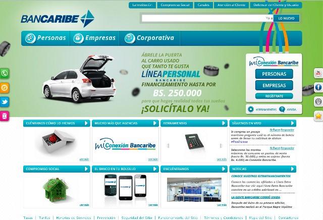 Página web Bancaribe