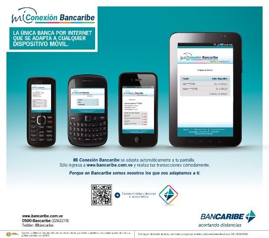 Conexión Bancaribe para dispositivos móviles