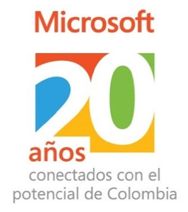 Microsoft 20 años Colombia