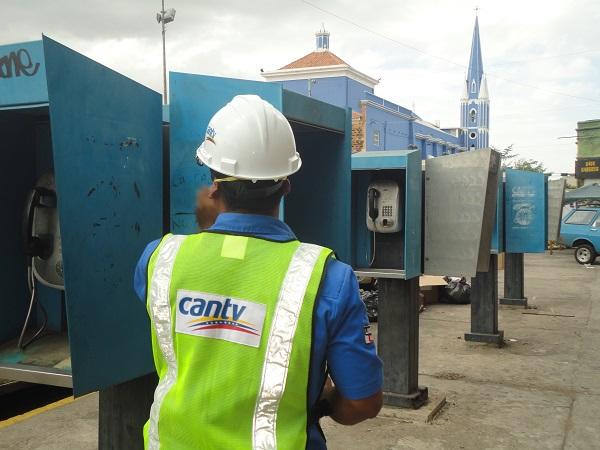 Recuperación teléfonos públicos casco Maracaibo