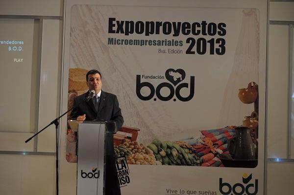 Andrés Pérez Capriles, VP Ejecutivo de Negocios de BOD-Corp Banca, en la instalación del evento