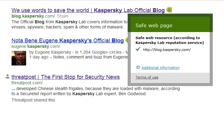 URL Advisor de Kaspersky Lab