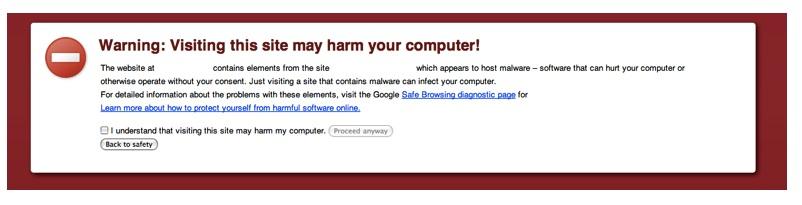 advertencia de los navegadores
