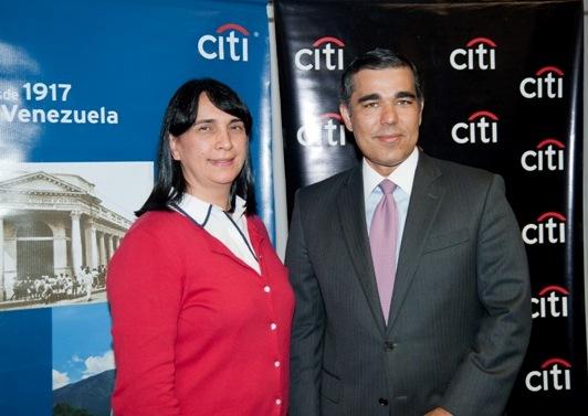 Mary Gloria Olivo Directora Fudep y Nelson Acosta Pdte Citi Venezuela