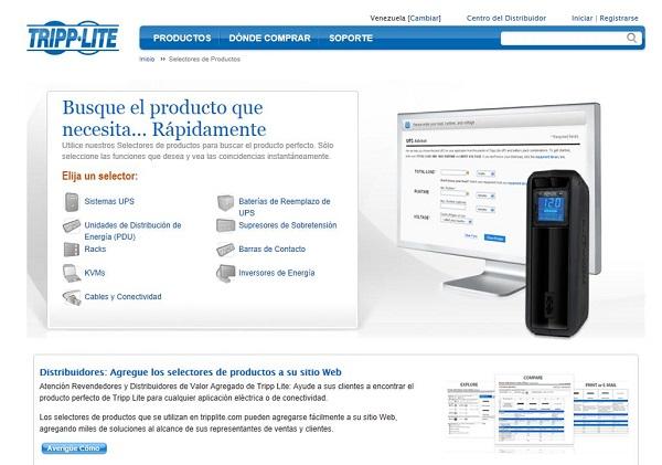 Tripp Lite - Selector de Productos