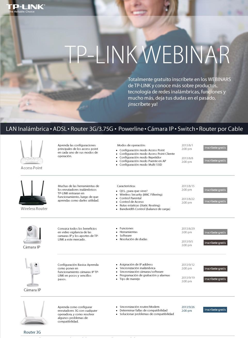 Seminarios Web de TP-Link