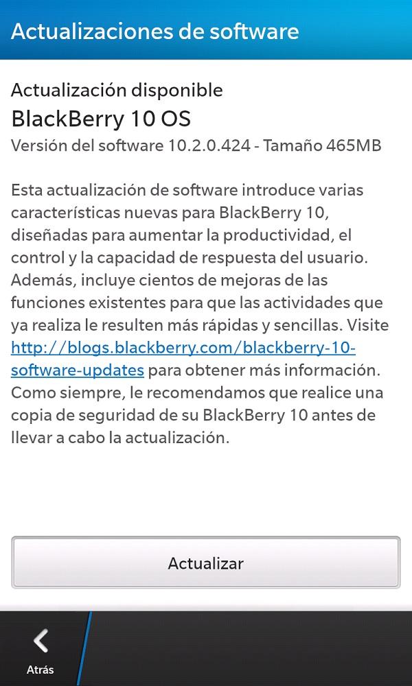 Llego BlackBerry OS 10.2