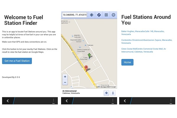 Fuel Station Finder in Maracaibo