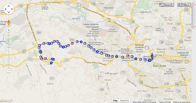 Mapa TimeCard GPS