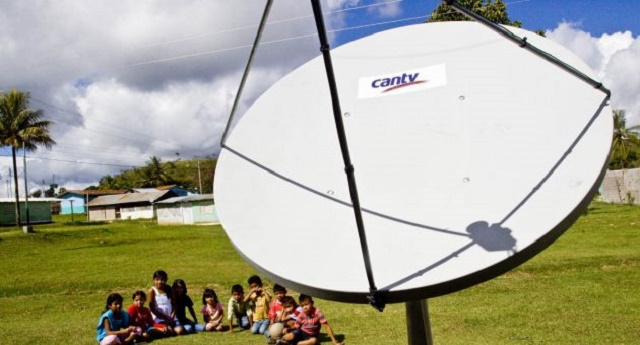 Antenas satelitales de Cantv