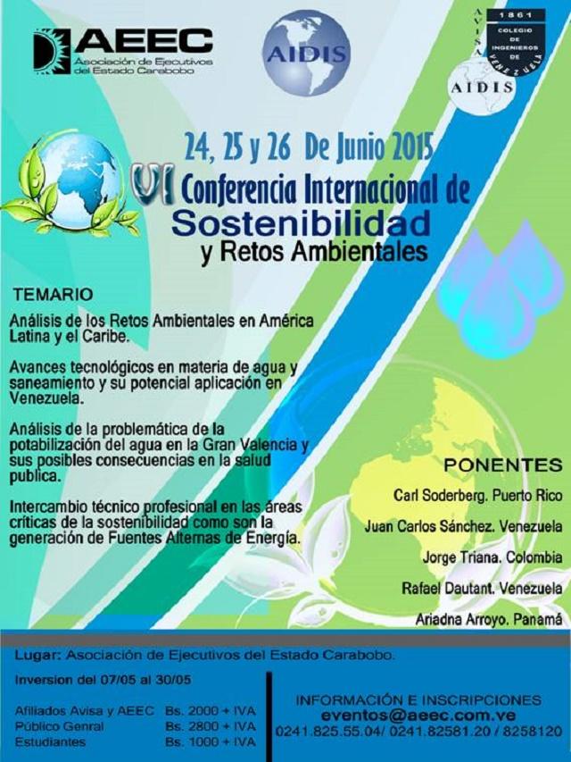VI conferencia ambiental