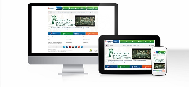banesco site responsive desktop+cell+ipad