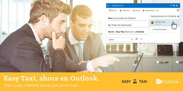 Alianza Microsoft Outlook con Easy Taxi
