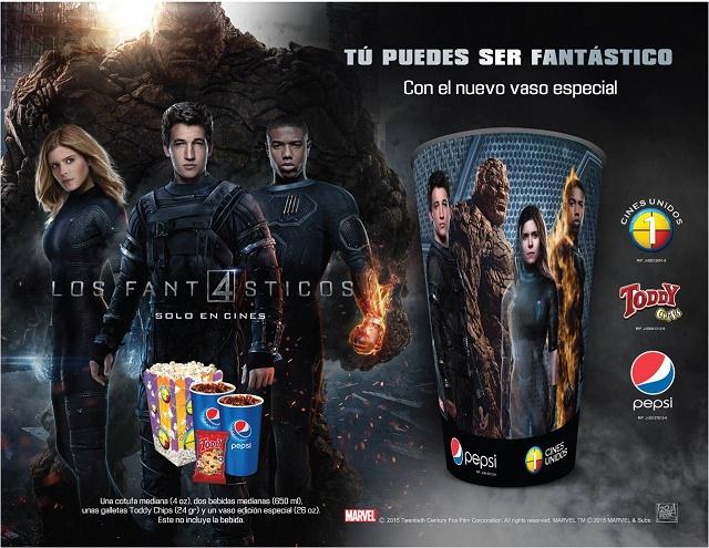 Cines Unidos Combo 4 Fantásticos