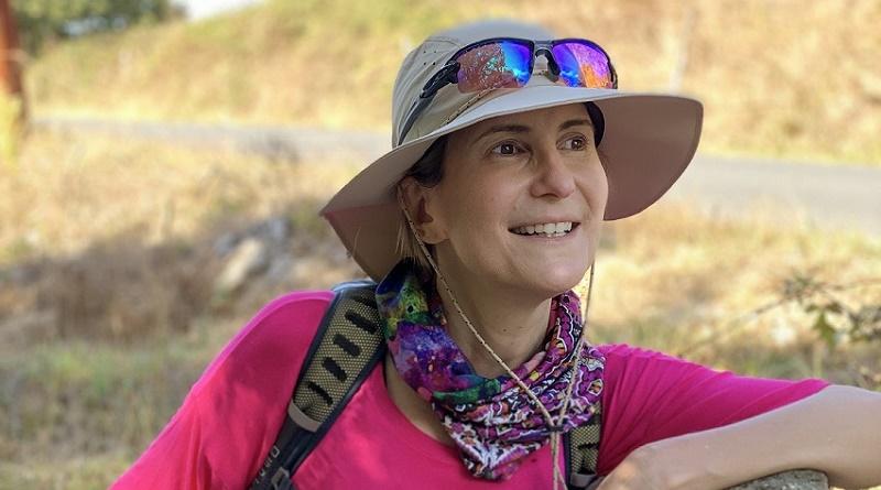 Anna Vaccarella en el Camino de Santiago