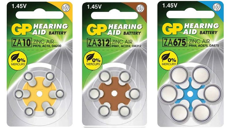 GP hearing aid battery